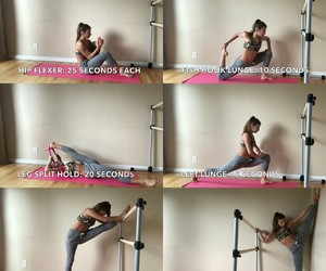 fitness, splits, and fit image