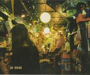 girl, vintage, and lights image