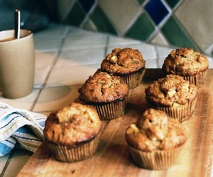 food, muffin, and vintage image