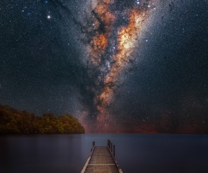 galaxy, nature, and night image