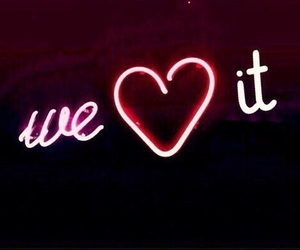we heart it, neon, and pink image