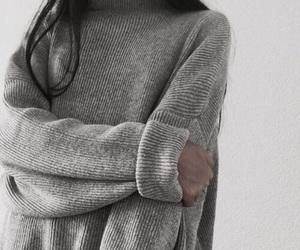 fashion, grey, and knitwear image