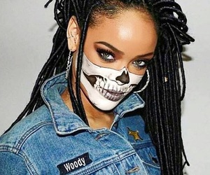 rihanna, make up, and riri image