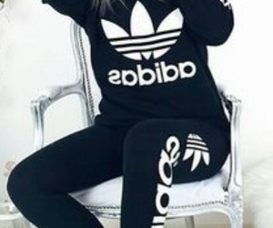 adidas, outfit, and black and white image