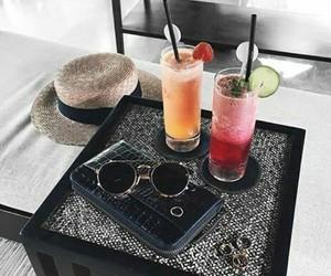 drinks, food, and sunglasses image