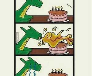 birthday, cake, and dragon image