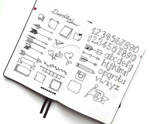 ideas, bullet journal, and banners image