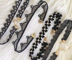 accesories, black, and chokers image