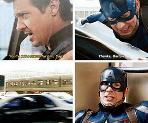 captain america, hawkeye, and Marvel image