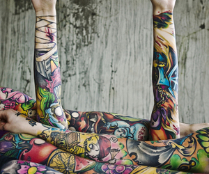 tattoo, arms, and hands image