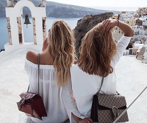 friends, travel, and hair image