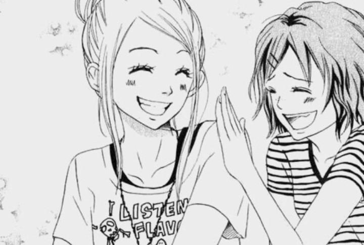 Аниме картинки лучшие подруги для срисовки