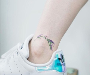 tattoo, flowers, and purple image