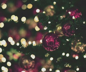 background, christmas, and lights image