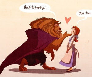 disney, beast, and beauty and the beast image