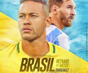brasil, match, and messi image