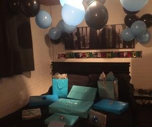 ballons, birthday, and black image