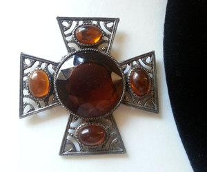 etsy, rhinestone pendant, and 1950s jewelry image
