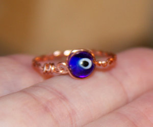 blue ring, etsy, and thin ring image