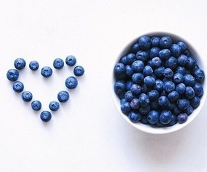 blue, blueberries, and bowl image