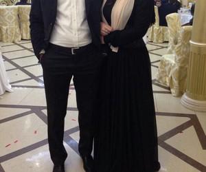 chic, hijab, and wedding image