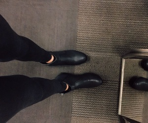 alternative, black, and booties image