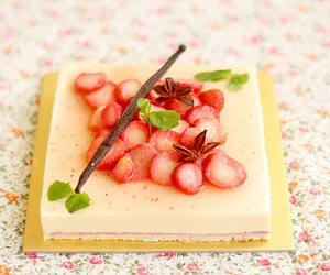 delicate, strawberry, and floral image