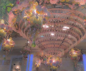 aesthetic, pink, and chandelier image