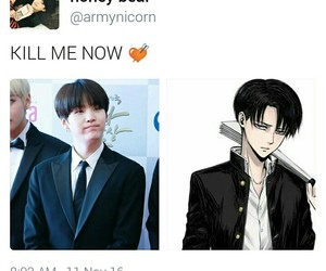 anime, levi, and bts image