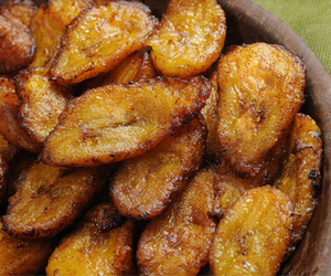 food, plantain, and banana image