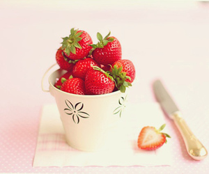 strawberry, pastel, and food image