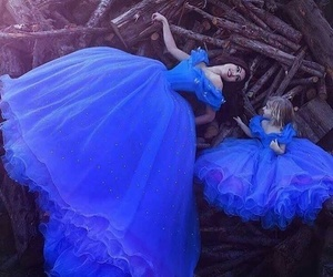 dress, blue, and child image