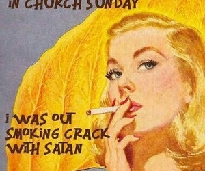 satan, crack, and church image