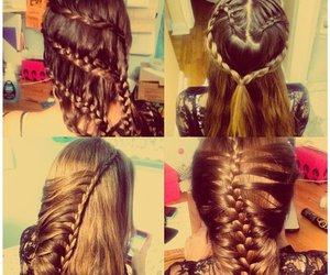 braids, heart, and style image