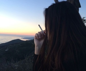 girl, cigarette, and tumblr image