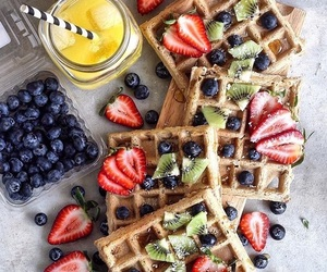 blueberries, fruit, and breakfast image