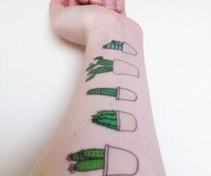 tattoo, cactus, and grunge image