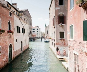 pink, travel, and venice image