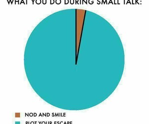 funny, introvert, and small talk image