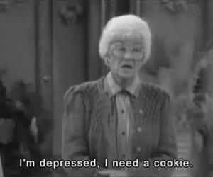 cookie, depressed, and the golden girls image