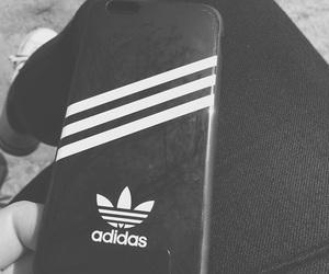 adidas, black and white, and blackandwhite image