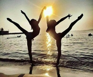 beach, ballet, and gymnastics image