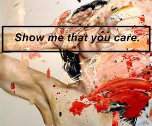 care, me, and show image