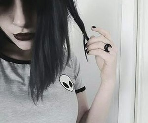 alien, gothic, and black image