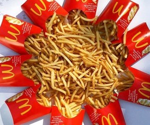 food, chips, and McDonalds image
