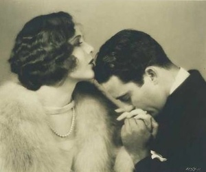 vintage, couple, and kiss image