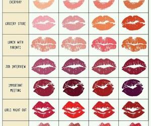 lipstick, lips, and makeup image