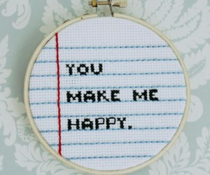art, embroidery, and happy image
