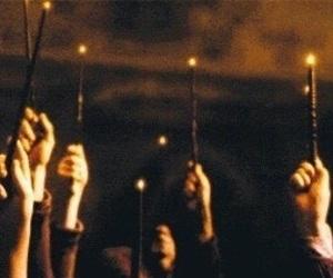 harry potter, magic, and wand image