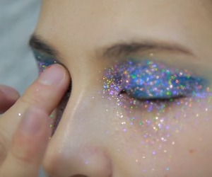 eyes, glitter, and make up image